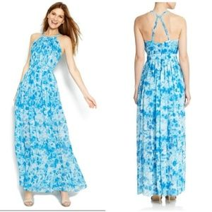 NWOT Calvin Klein Printed Halter Maxi Dress